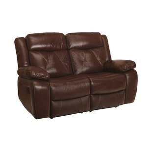 Gascon Leather Reclining Loveseat