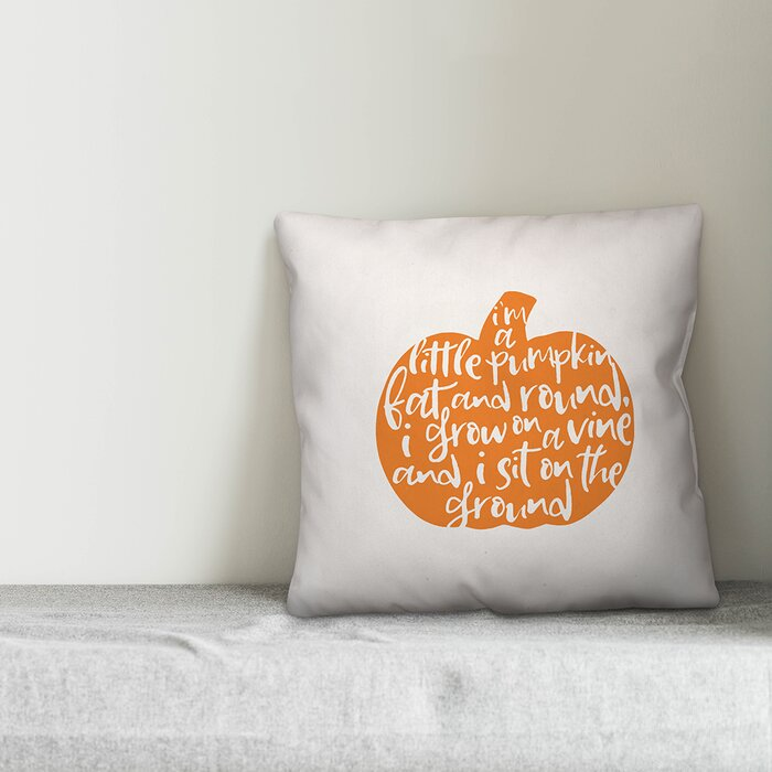 Outstanding Taft Avenue Im A Little Pumpkin Fat And Round Throw Pillow Cover Gamerscity Chair Design For Home Gamerscityorg