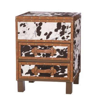 Odea Cowhide 2 Drawer Acce..