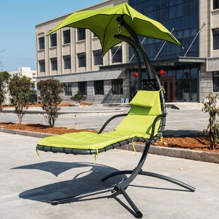 Ebern Designs Genesis Hanging Chaise Lounge with Stand