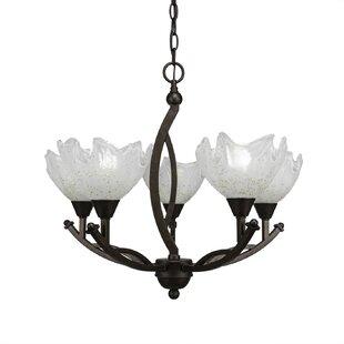 Blankenship 5-Light Shaded Chandelier by Fleur De Lis Living