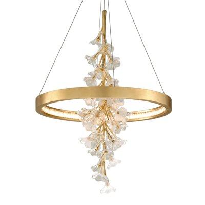 "Jasmine 1-Light LED Novelty Pendant Corbett Lighting Finish: Gold Leaf , Size: 39"" H x 28"" W x 28"" D"