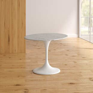 Kylee Artificial Marble Oval-Shaped Dining Table by Langley Street Amazing