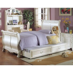 Eshelman Sleigh Bed with Trundle by Harriet Bee