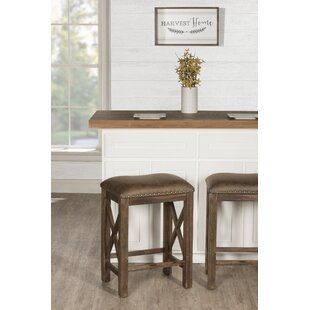 Coffin Stationary Counter Height 26 Bar Stool (Set of 2) Gracie Oaks