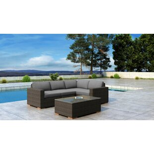 Glen Ellyn 5 Piece Sectional Set with Sunbrella Cushion