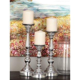4839a668e74c2 3 Piece Aluminum Candlesticks Set