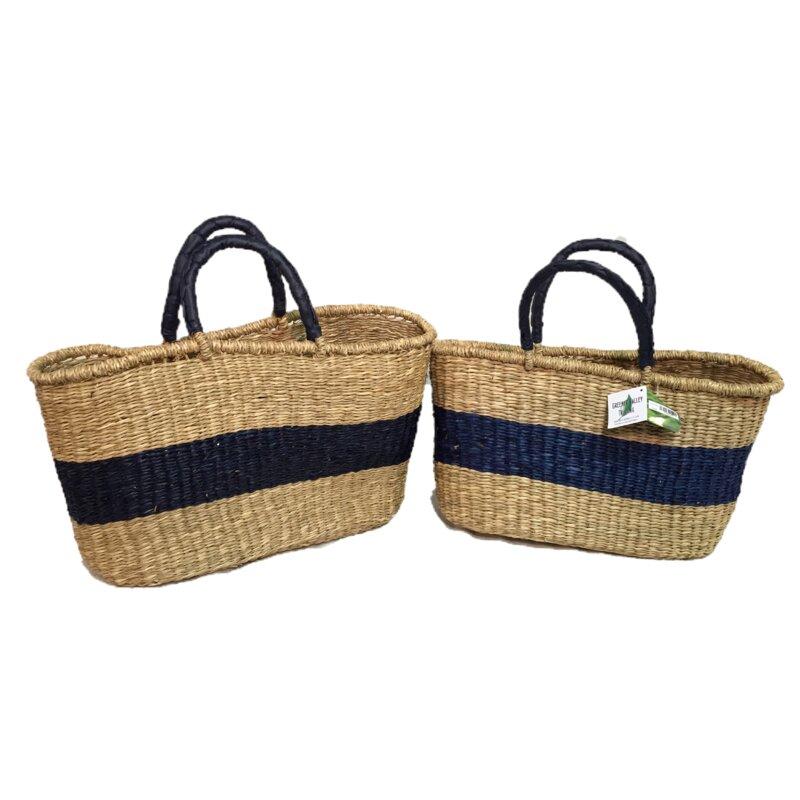Greener Valley 2 Piece Seagrass Basket Set Wayfair
