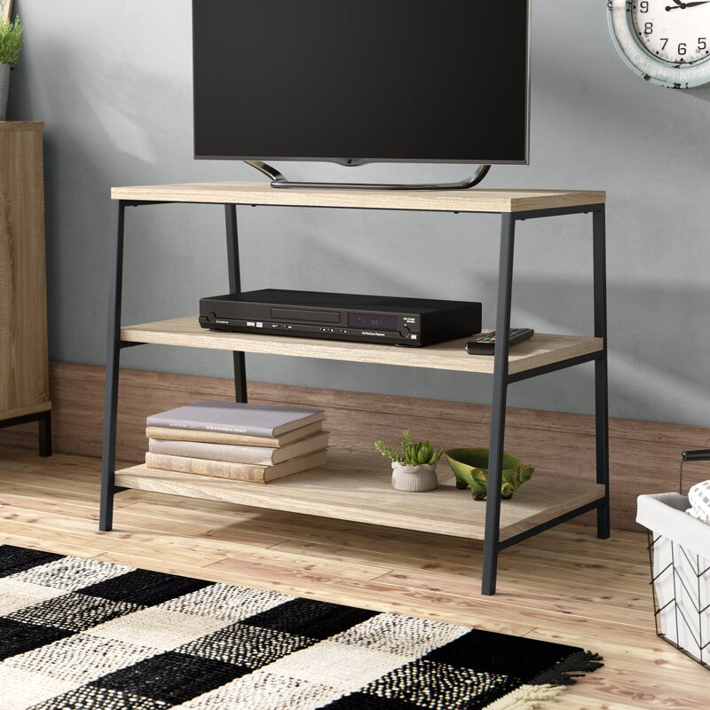 industrial wood tv stand
