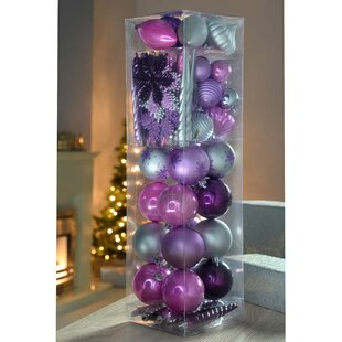 Purple Baubles Tree Ornaments You Ll Love Wayfair Co Uk