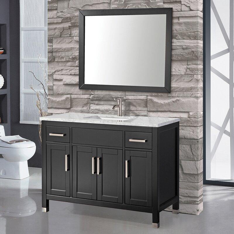 """60 Single Sink Bathroom Vanity brayden studio denault 60"""" single sink bathroom vanity set"""