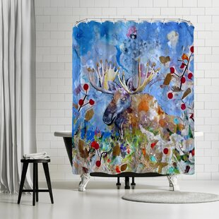 Sunshine Taylor Moose Single Shower Curtain