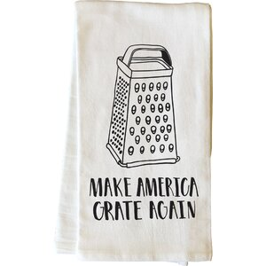 Make America Grate Again Black Tea Towel