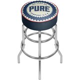 Pure Oil Wordmark Swivel Bar Stool by Trademark Global