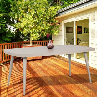 Aurora Folding Aluminum Dining Table by Latitude Run Best Choices