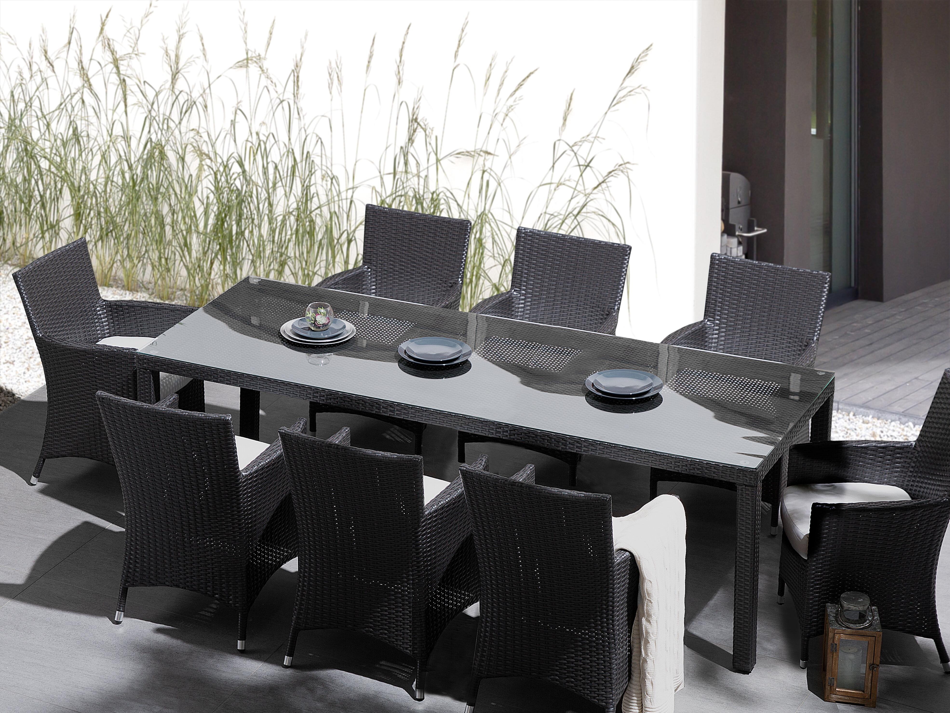 986ab8c5dc0f9 Brayden Studio Navy 9 Piece Dining Set with Cushions