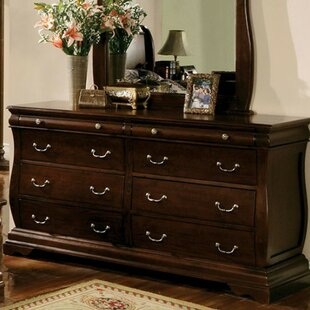 Creevery 6 Drawer Double Dresser with Mirror