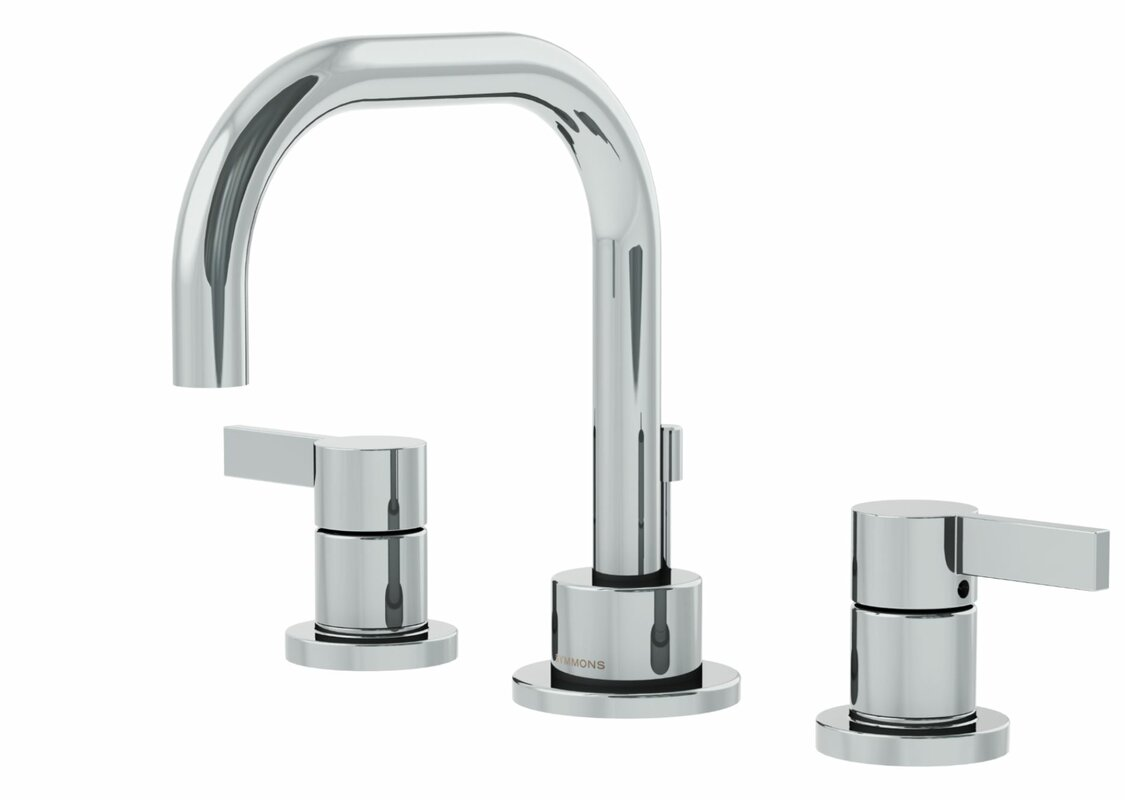 Symmons Dia Widespread Standard Bathroom Faucet Double Blade Handle ...