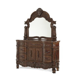 Windsor Court 7 Drawer Combo Dresser with Mirror by Michael Amini