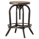 Kevin Solid Wood Adjustable Height Bar Stool by Laurel Foundry Modern Farmhouse