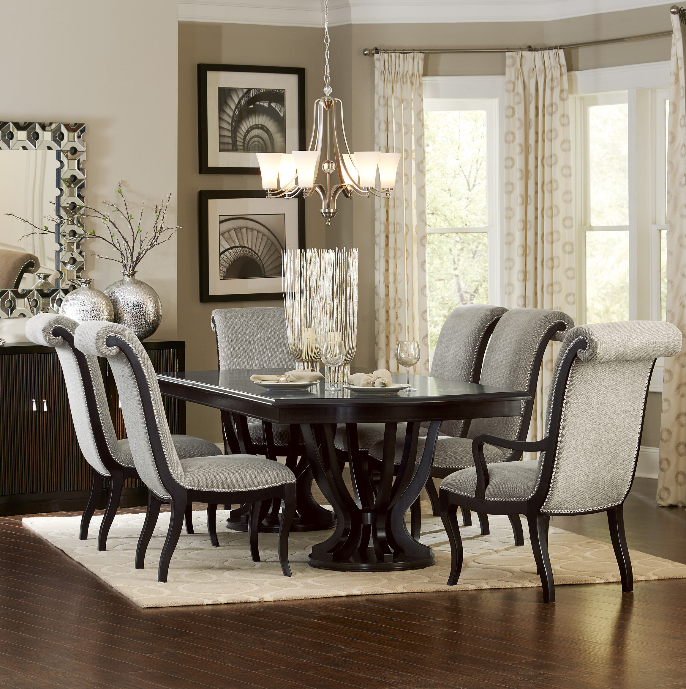 Canora Grey Baypoint 9   Piece Extendable Dining Set & Reviews ...