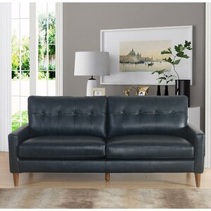 Leather Modern Contemporary Sofas Youll Love Wayfair - Contemporary leather furniture