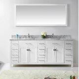 Savitsky 79 Double Bathroom Vanity Set with Mirror by Latitude Run®