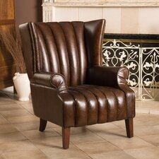 Grisson Leather Club Chair by Home Loft Concepts