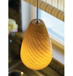 Tiella Honey 1-Light Cone Pendant