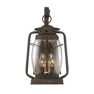 Price Check Bendel 3-Light Outdoor Wall lantern By Breakwater Bay