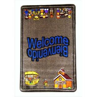 Hartell Welcome Gray Area Rug byZoomie Kids