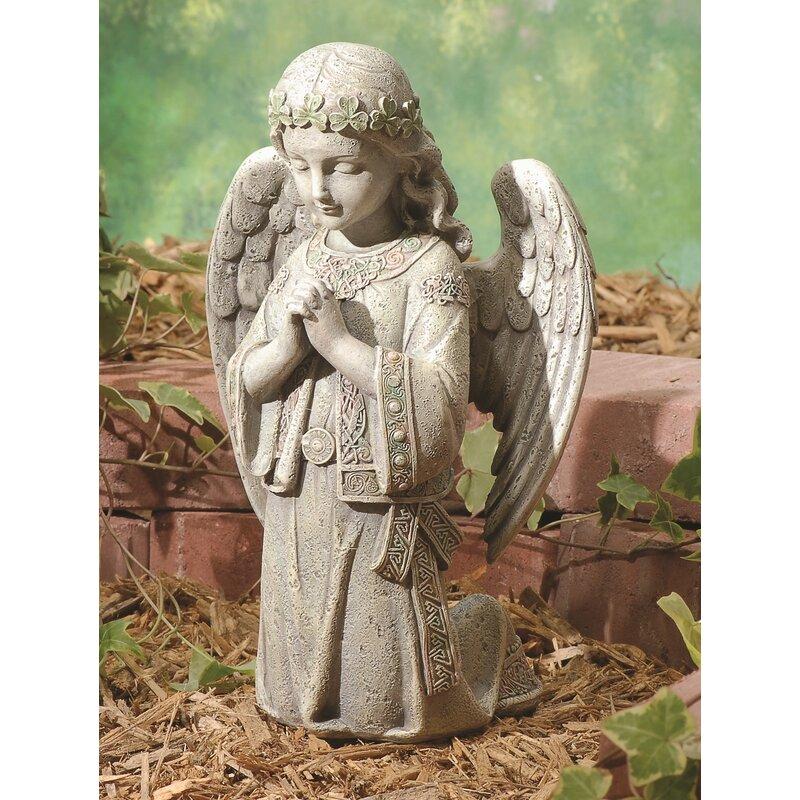 Fleur De Lis Living Tomko Celtic Kneeling Angel Statue Reviews Wayfair