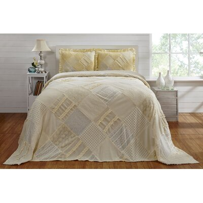 Lima Chenille bedspread Ophelia & Co. Color: Yellow, Size: Queen Bedspread