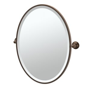 Oil Rubbed Tiara Framed Oval Mirror