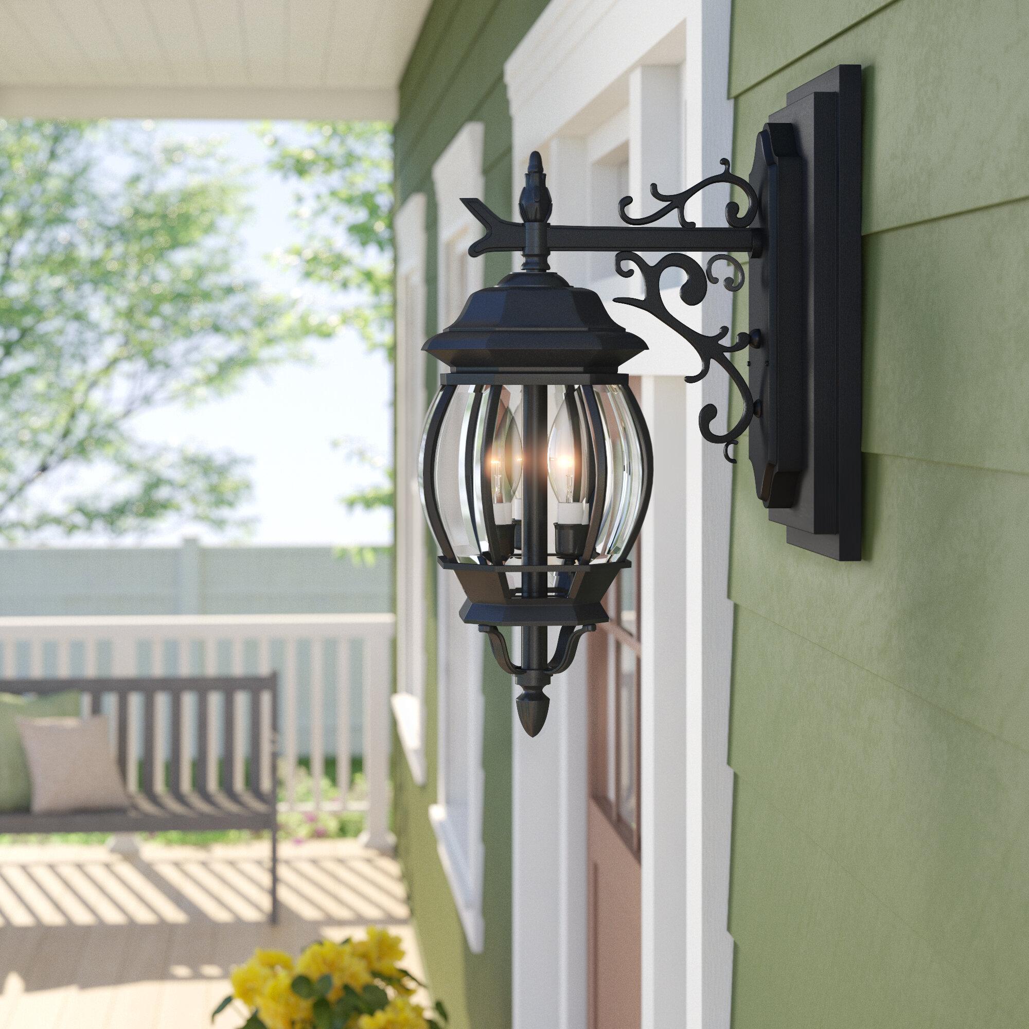 Gillian 3 Light Outdoor Wall Lantern