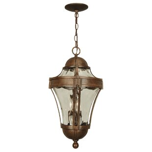 Charlton Home Oakhill Traditional 3-Light Outdoor Hanging Lantern
