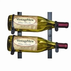 VintageView 2 Bottle Wall Mounted Wine Rack