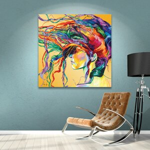 'Windswept' Framed Graphic Art Print on Canvas