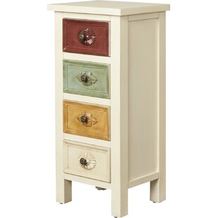 Huizar Contemporary 4 Drawer Chest by World Menagerie