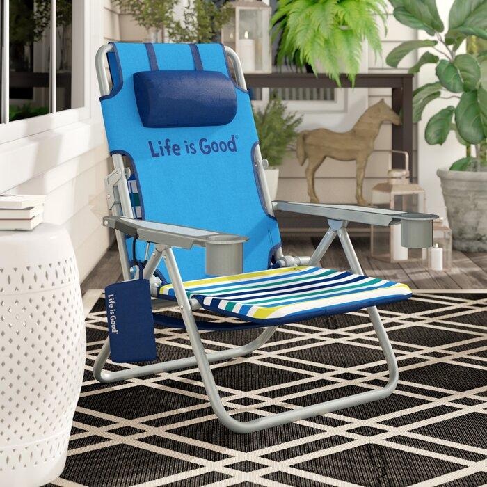 Fabulous Life Is Good Reclining Beach Chair Machost Co Dining Chair Design Ideas Machostcouk
