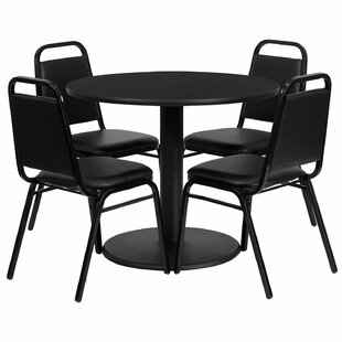 Girault Round Laminate 5 Piece Dining Set by Ebern Designs