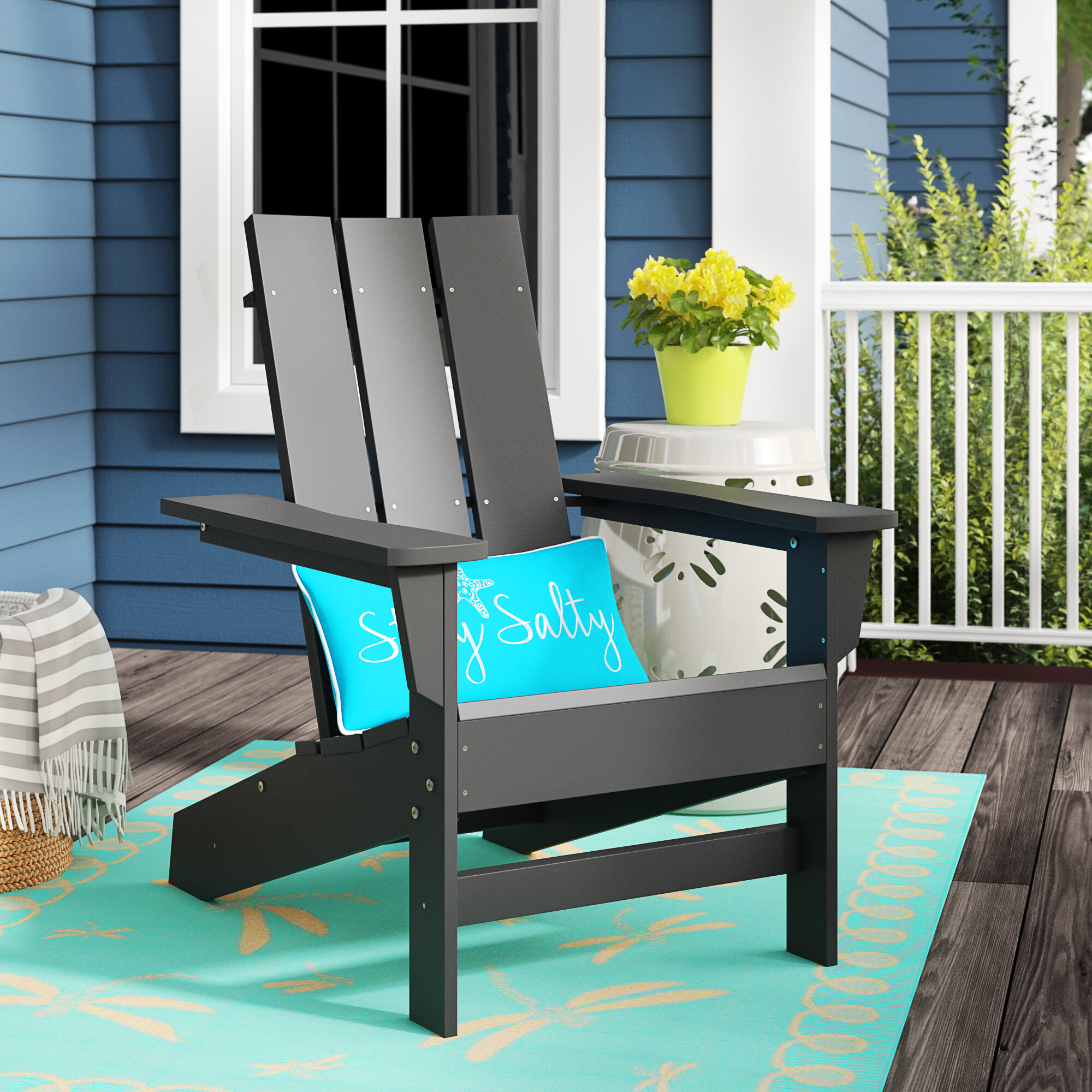 Picture of: Foundstone Marvin Plastic Resin Adirondack Chair Reviews Wayfair