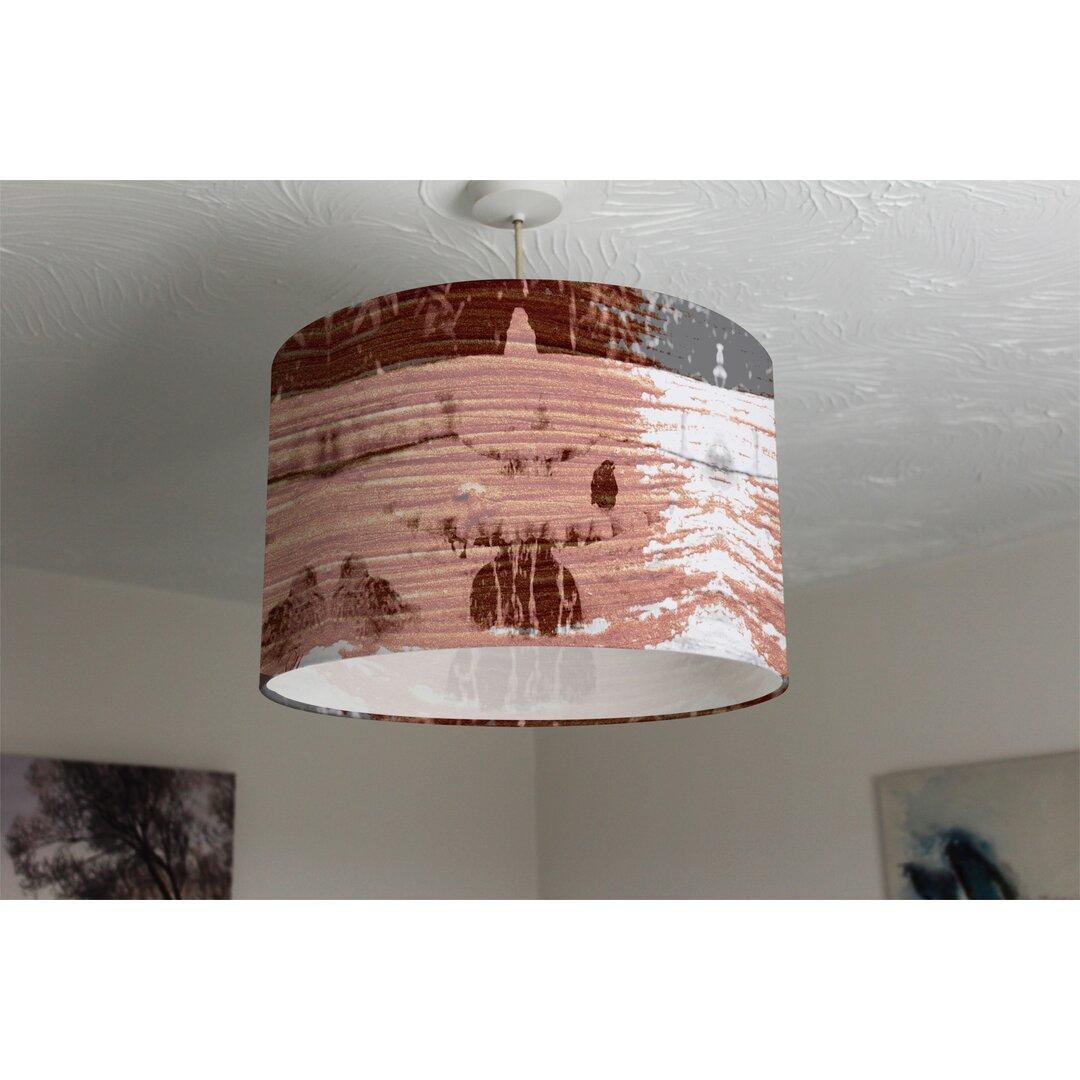 Bird Bath Cotton Drum Lamp Shade