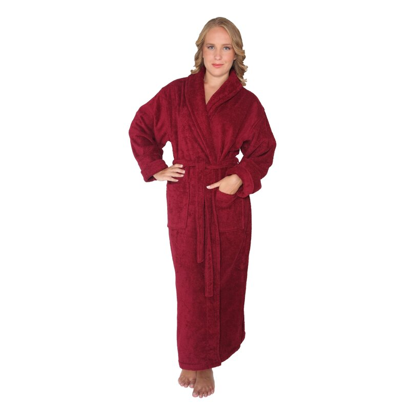Men/'s Ladies 100/% Egyptian Soft Cotton Terry Toweling Shawl Collar Bath Robes