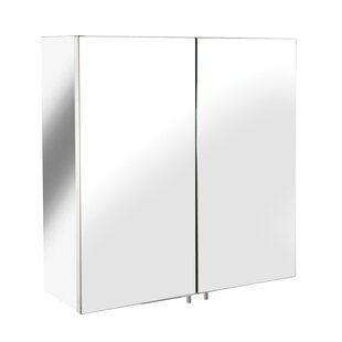Price Check Amenta Double Door 17 x 17 Surface Mount Framed Medicine Cabinet By Orren Ellis