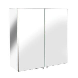 Amenta Double Door 17 x 17 Surface Mount Medicine Cabinet by Orren Ellis