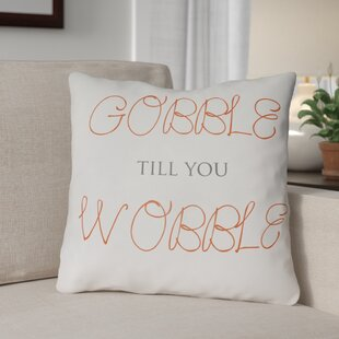 Gobble Wobble Indoor/Outdoor Throw Pillow