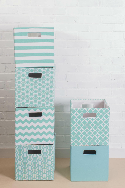 Lattice Square Fabric Polyester Bin