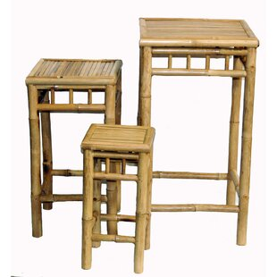Sides Nesting Patio Bar Stool Set (Set of 3)