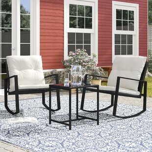 Kemmer Outdoor 3 Piece Rocking Seating Group